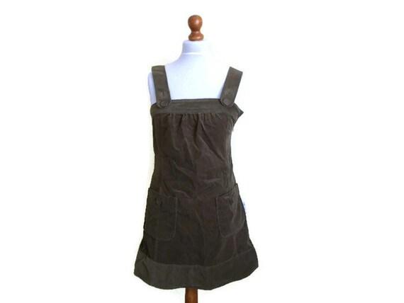 Vintage corduroy pinafore Pinafore dress Corduroy