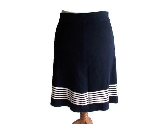 0a40525e36 Vintage Striped Skirt Nautical skirt Striped skirt sailor | Etsy