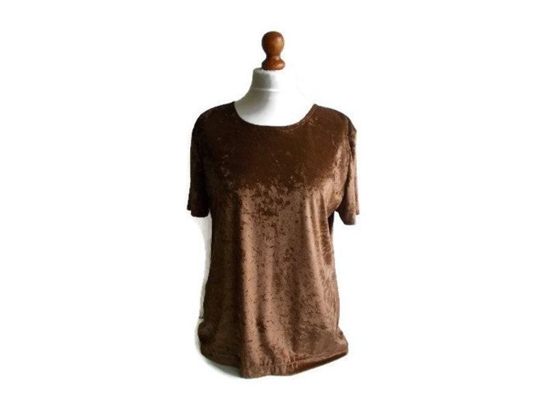 61d23ff8e Vintage Velvet top Crushed velvet top Velvet blouse Short   Etsy