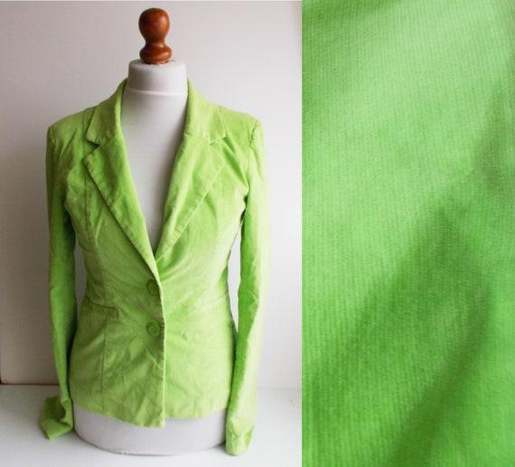Vintage Green Blazer, Neon green blazer, Salad gre