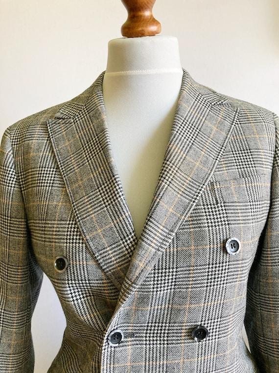 Vintage Checked Blazer, Boxy blazer, Boyfriend bl… - image 5