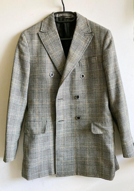 Vintage Checked Blazer, Boxy blazer, Boyfriend bl… - image 6