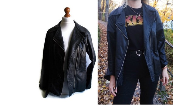 Vintage Leather Jacket, Retro leather jacket, Genu