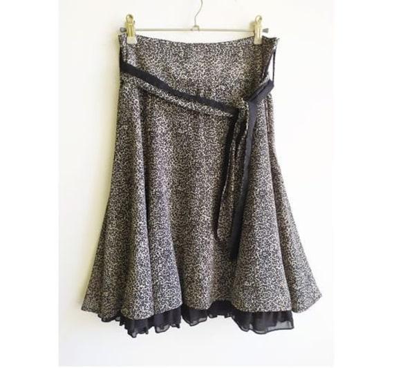 Vintage Animal Print Skirt, Animal print skirt, La