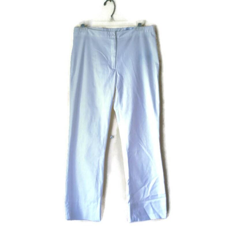 White dress pants White cropped pants White trousers Vintage White Pants Cropped pants White fabric pants White pants Size 38