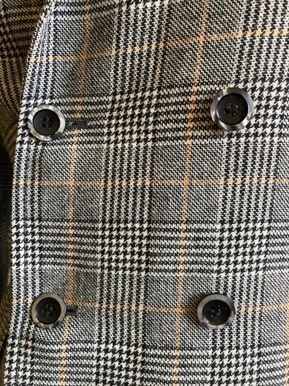 Vintage Checked Blazer, Boxy blazer, Boyfriend bl… - image 9