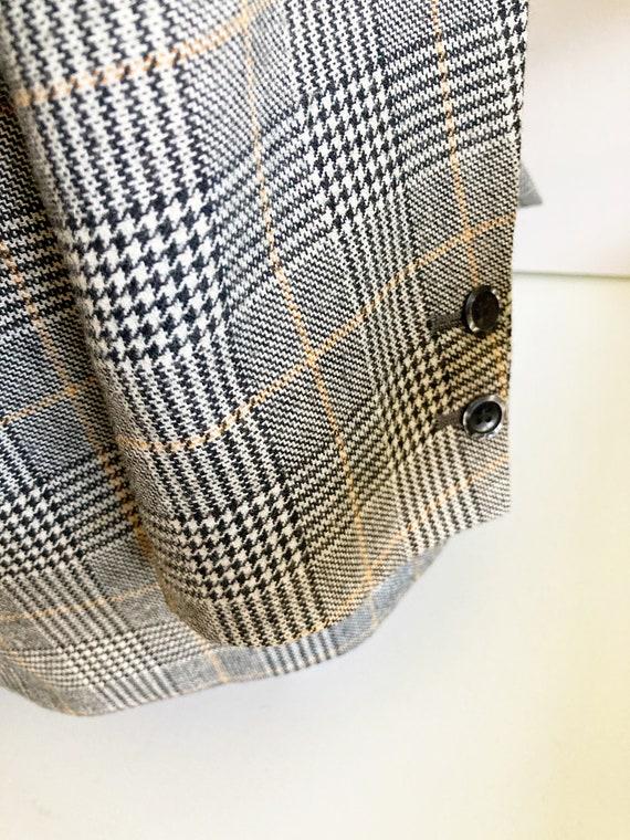 Vintage Checked Blazer, Boxy blazer, Boyfriend bl… - image 8