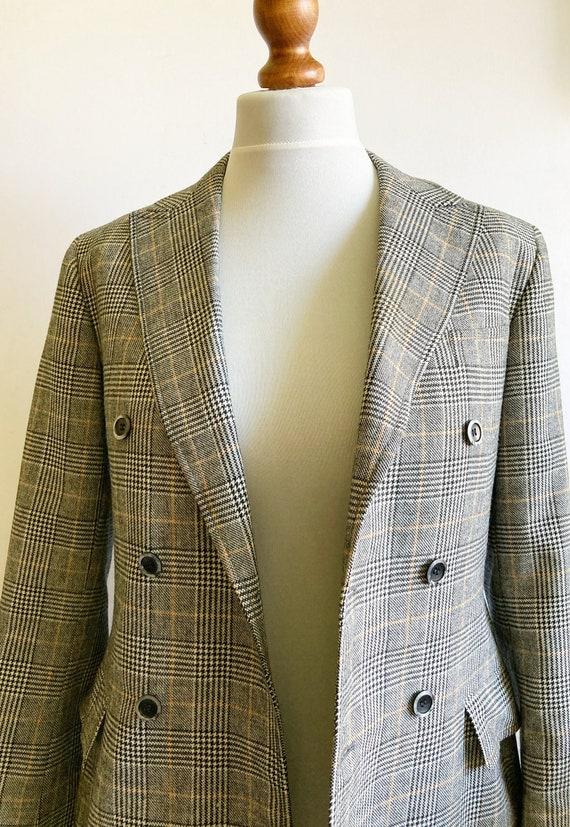 Vintage Checked Blazer, Boxy blazer, Boyfriend bl… - image 4
