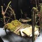 Faery Bedroom Set - miniature fairy bed, fairy furniture, handmade and ooak by thefaeryforest