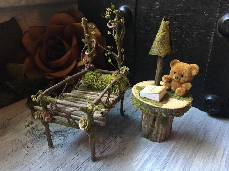 Faery Nursery Set  miniature nursery baby crib fairy image 0