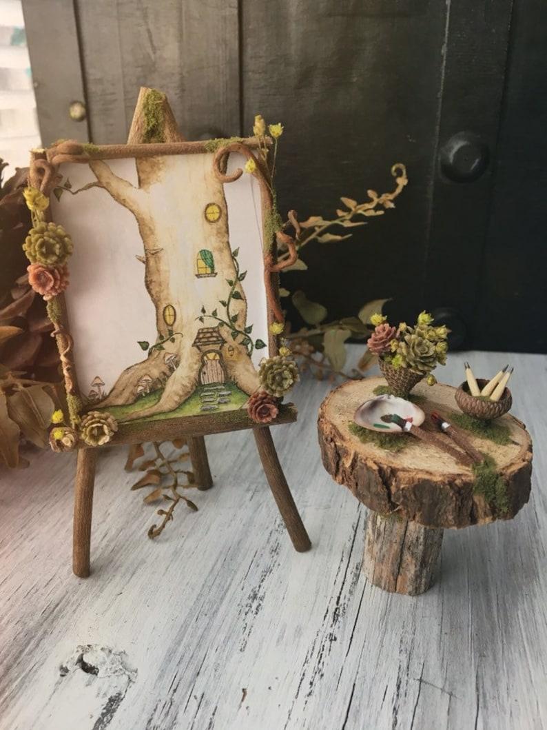 Faery Artist Painting Set  miniature fairy artist set fairy image 0