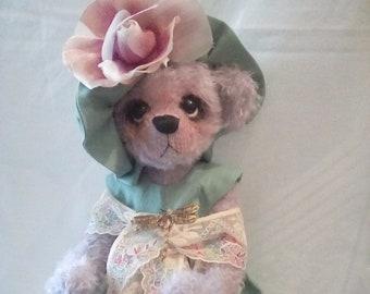 Lilac Shulte Mohair Teddy Bear - Named Sophia