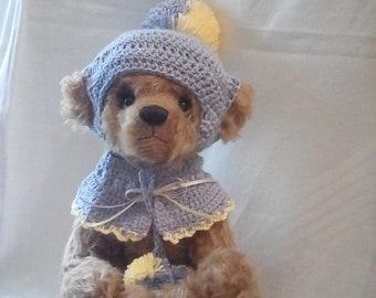 Light Brown Shulte Mohair Teddy Bear - Named 'Pom Pom'
