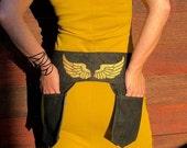 The JACQUI denim pocketed belt