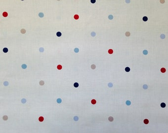 Blue and Red Dotty Fabric