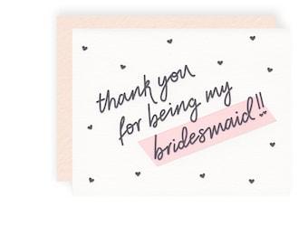 Flower Girl Thank You - Letterpress Greeting Card