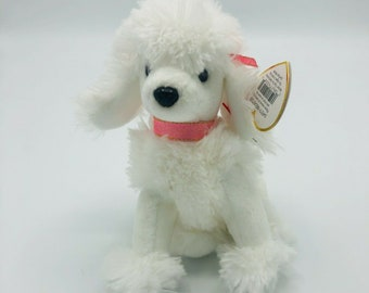 - MWMTs Stuffed Animal Toy TY Beanie Baby 6 inch L/'AMORE the Poodle Dog