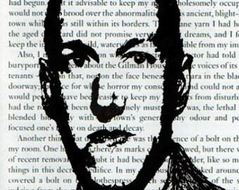 H.P. Lovecraft Hand Sketched Digital 6x4 Postcard