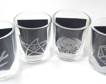 Eldritch Essences Hand Engraved Votive Holders
