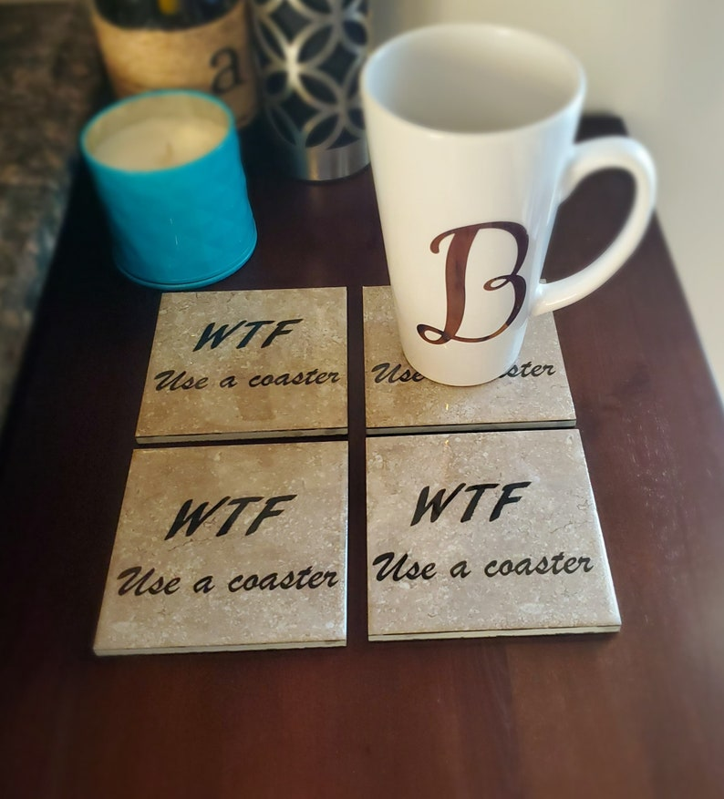 This is the perfect WTF use a coaster secret santa gift to make your secret gift receive laugh.