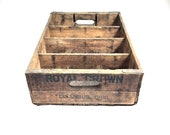Vintage Hard To Find Royal Crown Cola Par-T-Pak Columbus Ohio Wood Crate