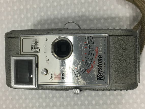 Vintage 1950's Keystone K25 Capri 8mm Movie Camera, Case, Elgeet Cine  Turret/lenses, and Elgeet 1/2