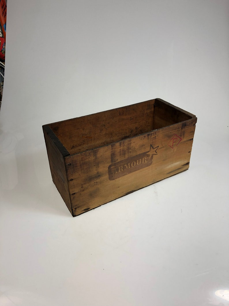 Vintage Armour Star Corned Beef Wooden Crate Box Argentina 15 12 Long 7wide And 7 14 Tall Free Shipping