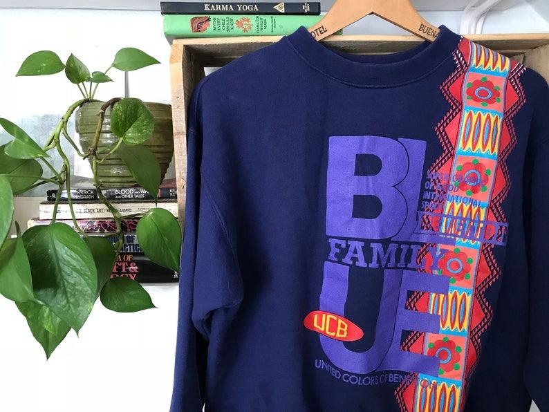 afb098b5172 Vintage Benetton Sweatshirt   Small Mens Womens   United