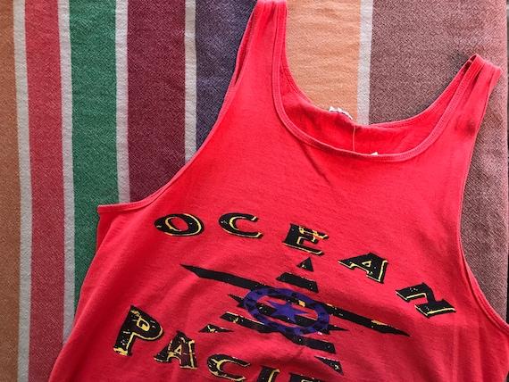 Ocean Pacific OP 90s Tank Muscle Tank Vintage Grap