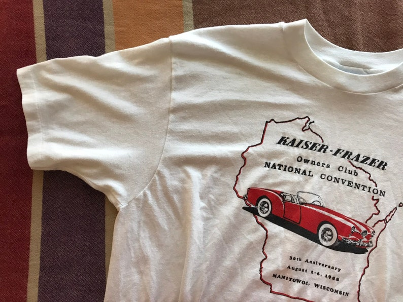 404505b398 Kaiser-Frazer Car Club Vintage Graphic Tee / 80s 1980s | Etsy