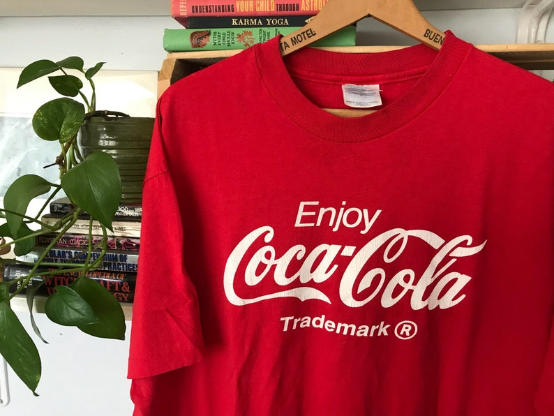 ddd8ee83 Vintage Coca Cola T-Shirt Mens Womens XL Extra Large / Red / | Etsy
