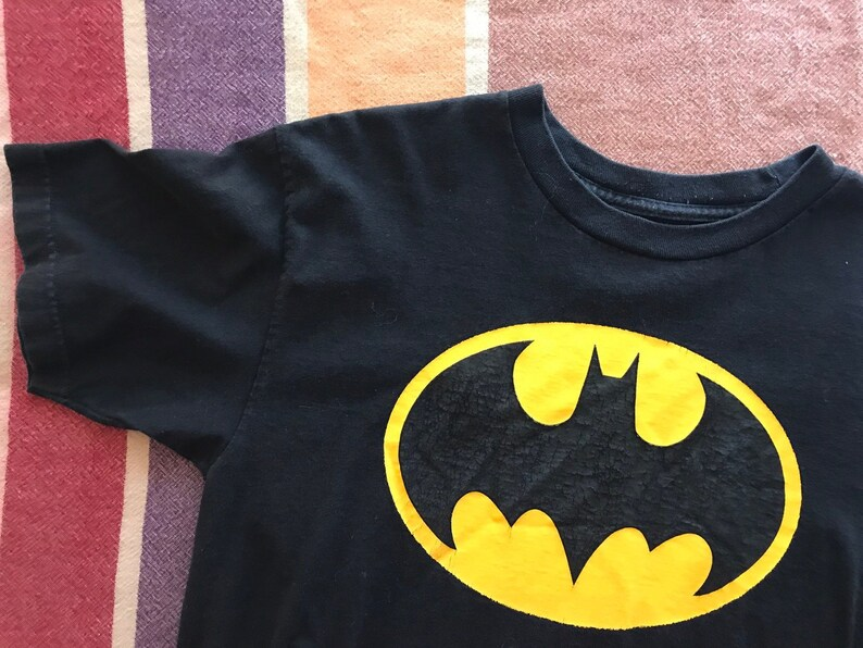 Batman Logo Torn Tshirt Classic Official Dark Knight DC Comics White Mens Tee