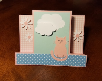 Handmade Card with Kitten / Puppy