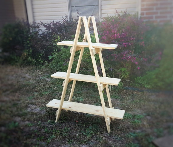 Ladder Shelf 40 Ft Wooden Ladder Craft Fair Display Craft Etsy Adorable Display Stands For Craft Fairs