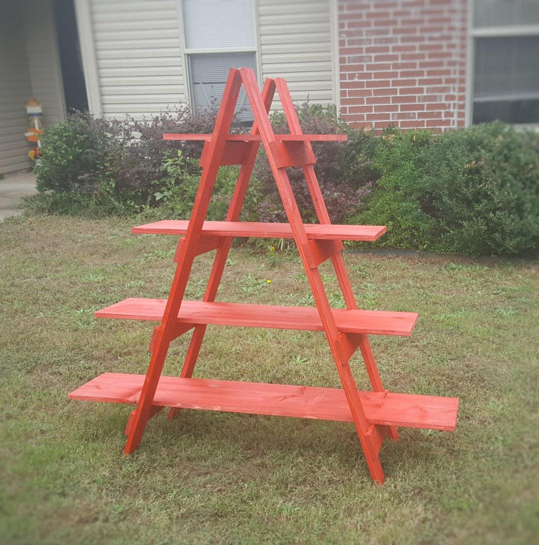 5 Foot Wooden Ladder Christmas Village Display Ladder