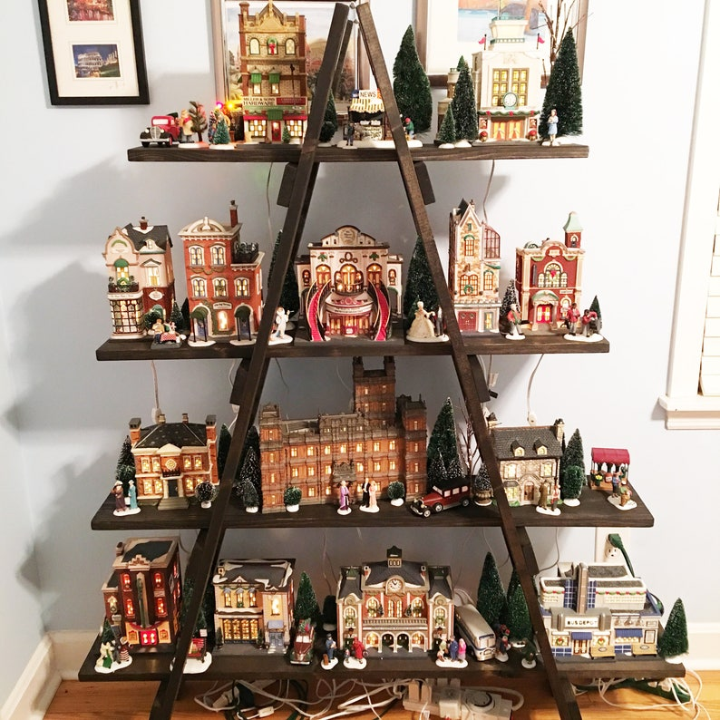 6 Ft Wooden Ladder Christmas Village Display Craft Show Etsy