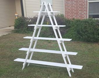 Rustic Ladder Shelf - 6 ft - Wood Ladder - Craft Fair Display - Rustic Bookshelf - Decorative Ladder - Portable Display - Wood Ladder Shelf
