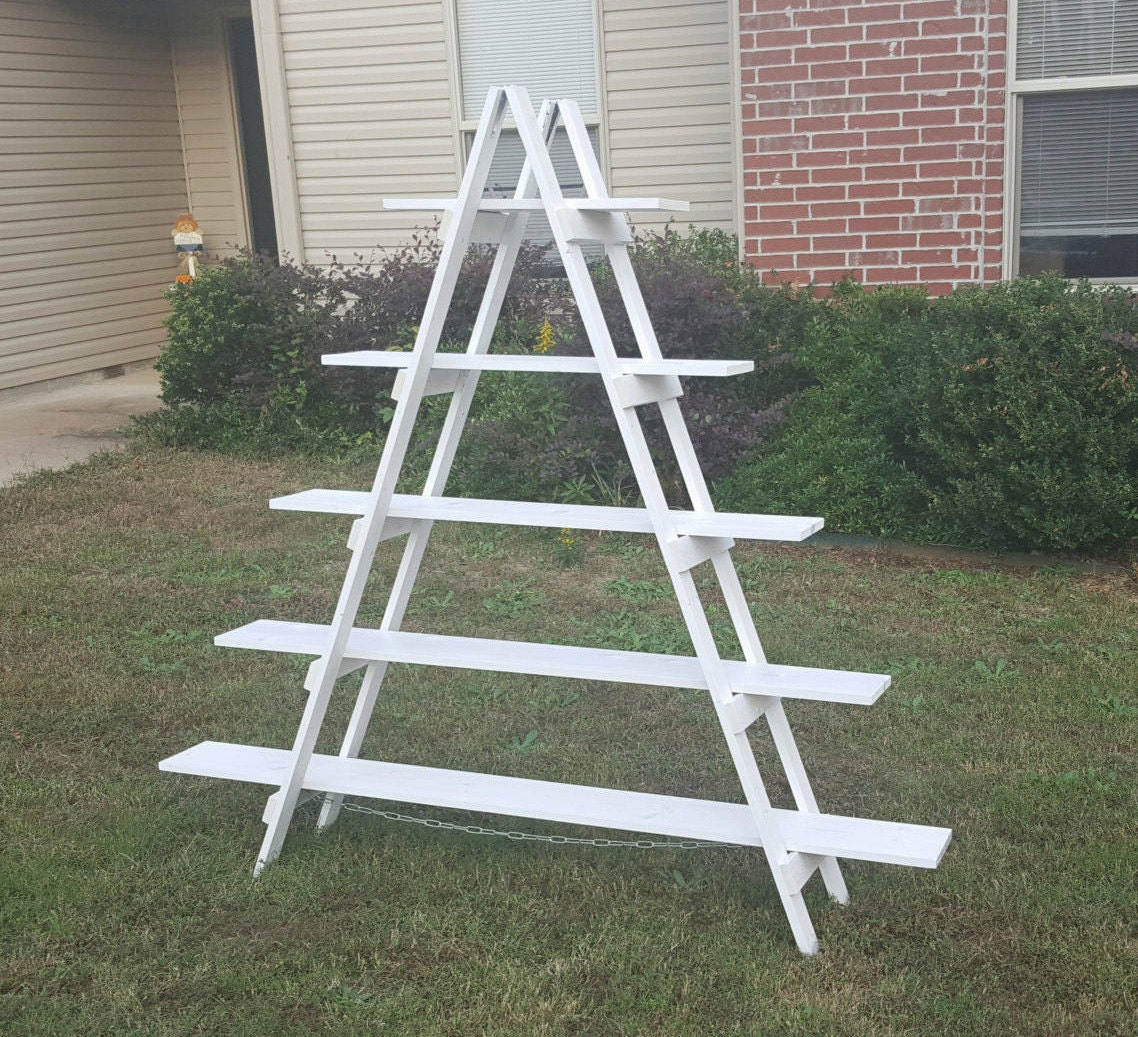 Rustic Ladder Shelf 6 Ft Wood Ladder Craft Fair Display