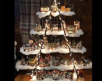 Christmas Display Ladder - Christmas Decor - Christmas Village Display - Easy Storage - Ladder Shelf - Display Stand - Portable Display