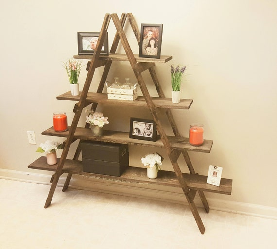 Cascade Ladder Shelf Rustic Bookshelf Bookcase