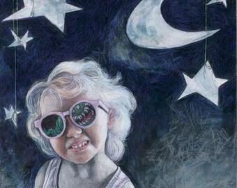 Monster, Moon & Little Girl