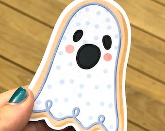 Spooky Ghost Cookie Sticker, Halloween Sticker