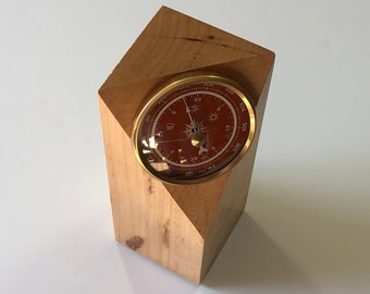 Weather Station, Barometer, Hard Maple