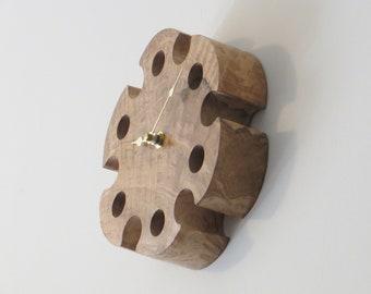Wall Clock - Figured White Oak