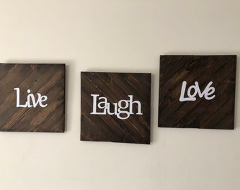 Live Laugh Love Solid Wood Wall Decor