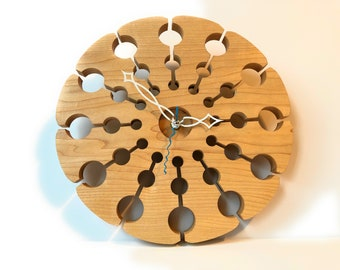 Modern or Retro Birch Wood Wall Clock