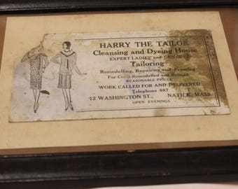 Home Decor- Vintage Harry the Tailor Advertising Natick, Mass.
