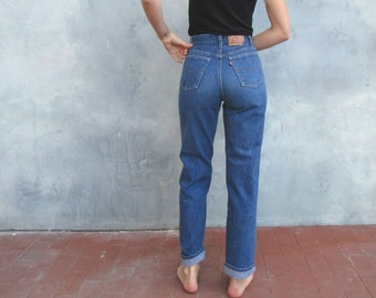 7255ee3b 1970s Levis 701 Student / 27 Waist / Small / Button Fly, 1970s Classic High  Waist Straight Leg Shrink to Fit Jeans