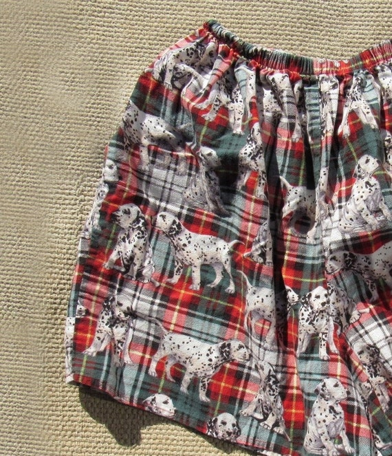 80s, 90s Eileen West Flannel Dalmation Shorts - Me