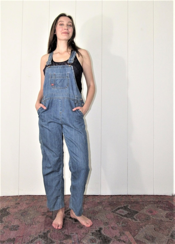 Dickies Overalls Small-Med Denim Cotton Classic Ov